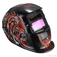 Wholesale Rampage Electrical Welding Helmet Solar Energy Automatic Darkening Skull Protective Mask Auto Darkening welding Helmets PIT_106