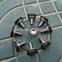 Cheap Free Shipping 10pcs Bike Bicycle Cycle Square Hole Middle Axel Axis Bottom Bracket Crank Screws Aluminium Alloy