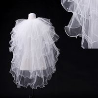 ruffle yarn - Ready to Ship Yards vory White Tiered Ruffles Wedding Veils For Wedding Gowns Wedding Accessories