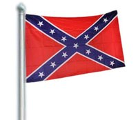 Wholesale Two Sides Printed National Polyester Flag Confederate Rebel Civil War Flag
