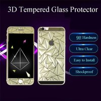 best screen cover for iphone - Best Selling D Diamond Style Tempered Glass Film Screen Protector Both Sides Front and Back Cover for Iphone plus