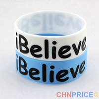 Wholesale I Believe Silicone Thick Bracelets By Kevin Durant Basketball Sport Star Inspirational iBelieve Wristband