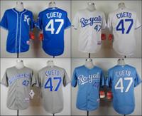 american roads - Kansas City Royals Johnny Cueto White GRAY Light Blue Home Road Wholesales Cheap American baseball jerseys Embroidery Logo Mix Order