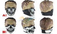 Wholesale Neoprene Neck Warm Half Face Mask Winter Veil Windproof Sport Bike Bicycle Motorcycle Ski Snowboard Outdoor CS Skull masks