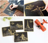 Wholesale 2016 New in Scratch Postcard Scratch Night View Sydney Paris Las Vegas Birthday Gift Cards