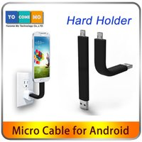 able charger - Bent able Stand USB Charging Cable Hard Holder Sync Data Transfer Adapter Connector Charger For Android Phone Samsung