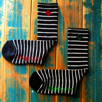 Cheap LRG geans Tree LOGO Black-Strip Crew Socks for Skateboarding Outdoor Sports Clothing Equipment free shipping