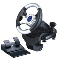 Wholesale Curved simulation car automobile race pc game steering wheel racing simulator