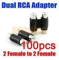 av joiner - Dual RCA Jack Female to Female AV In line Joiner Adapter Connector Extension order lt no track