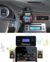 Wholesale Hot Wireless mm In Car Handsfree Car Kit Music Radio MP3 FM Transmitter For iPod iPad iPhone S B2 SV005796