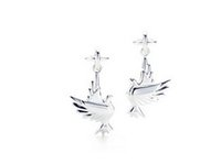 Wholesale High quality New Women s Silver Pigeon Dangle Earring