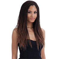 Wholesale ombre dark brown Braiding Hair Synthetic Lace Front Wig Heat Resistant Braided Wigs For African American Black Woman