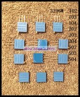 Wholesale-50Pcs / 3296W Lote 104 100K Ohm High Precision Trimmer potenciómetro variable Resistencia a estrenar