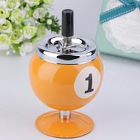best portable pools - Best Design Cool Portable Pool Ball Billiard Ball Push Button Metal Cigarette Ashtray