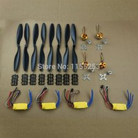 rc aircraft propeller - 4set A2212 Brushless Outrunner Motor A ESC Propeller pair Quad Rotor Set for RC Aircraft Multicopter order lt no track