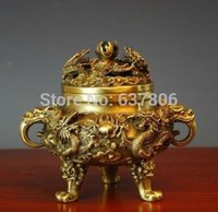 Wholesale Collectible Chinese Brass Kowloon incense burner