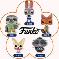 Wholesale 2016 NEW FUNKO POP Zootopia Judy Hopps Finnick Nick Wilde Mr Big Flash vinyl figures