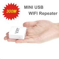 achat en gros de usb amplificateur de signal sans fil-Mini WiFi Répéteur 300Mbps wi-fi Repetidor Port USB Réseau sans fil Pont Signal Booster