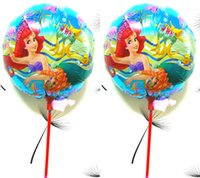 ariel little mermaid party supplies - inch ballon ariel party supplies princess little Mermaid balloons with stick girl birthday gift party decoration