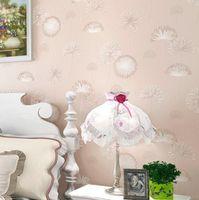 Wholesale Living room bedroom wallpaper papel de paredeTV backdrop wallpaper non woven wallpaper warm pastoral dandelion