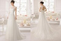 Cheap 2016 New Simple Backless Jewel Lace Wedding Dresses Tulle Beads Sheath Court Train Sleeveless Real Images Wedding Gowns