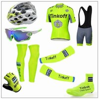 bicycle touring shoes - 2016 Tour De France Tinkoff Saxo Cycling Jerseys Short Sleeve Road Bicycle Wear Seven Pieces Set With Gloves Arm Leg Shoes Cover Glass