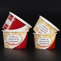 ice cream paper cup - Best Wishes Color Paper Ice Cream Cup Waterproof Disposable Thick Dessert Bowl Party Supplies Gift Package SK811