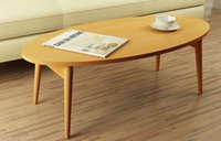cheap sofa - Cheap Oval Modern Computer Laptop Sofa Table Folding Legs Colors Living Room Wooden Center Sofa Table Wood Furniture Low Small Tea Table