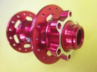 bicycle hub caps - Mountain Bicycle Hub FasTace DA62 MTB Disc Brake mm M15 Thru Axle Front Hub Holes with QR Side Caps O L D mm Red in