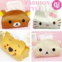 bear towel holder - Tissue Box Holder Time limited Limited Tissue Case Seat Type Room Bakeware Towel Tecidos Pu Box Cover Pooh Easily Bear