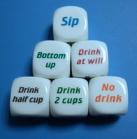 Sashes PVC Yes Party Drink Decider Dice Games Pub Bar Fun Die Toy Gift KTV Bar Game Drinking Dice 2.5cm