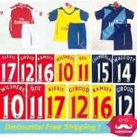 kids football shirts - kids Arsenal Jerseys Arsenal FC Alexis Sanchez Children Soccer Jersey Red RAMSEY OZIL Children football shirts