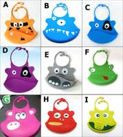 Wholesale Infant Baby Silicone Kid Washable BB Bib Crumb Catcher Fun Characters Waterproof