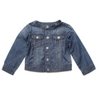 baby cowboy costumes - Retail baby girl Denim jacket coat spring autumn kids clothing bow long sleeve children Cowboy outwear solid girls costumes HX