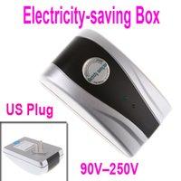Wholesale 4 New Power Electricity Energy Saving Box Energy Saver US Plug V V KW
