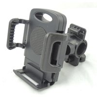 bicycle cradle - Rotatable Bicycle Bike Phone Mount Clip Holder Cycling Motorcycle Cradle Stand Mount For IPhone Smart Cell phone GPS DHL Freeship