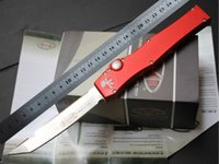 microtech - New HOT SALE MICROTECH HALO V Stonewash Plain single action knife Tanto Edge Tactical D2 knife knives in original box red