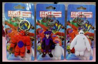 rubber keychain - 7 cm rubber keychain big hero baymax Cartoon Movies Accessories Keychains style Action Figures Retail OPP Packaging toys