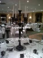 black candelabra - crystal black candelabra with flower bowl