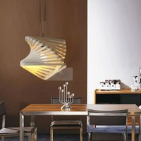 Wholesale Modern Novelty Chandelier Innovative Wrought Iron Pendant Lamp D Spiral Skeleton Polyhedron Art Luminaire Deco Luster Lights