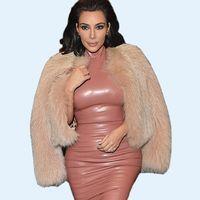 Cheap New Style Lady Celebrity Leather Dress Crew Neck Sleevelesss Bandage Bodycon Pink Black Dress Winter Plus Size Midi Party Dresses CJE0709