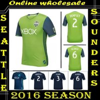 Wholesale Whosales Seattle Sounders Jersey Soccer Jersey DEMPSEY Football Shirt Soccer Uniforms Evans MLS Thai Quality Football Jersey