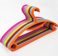 Wholesale 10 Non slip Colorful Hangers For Cloth Multi functional Plastic Hangers Solid Clothes Tree Coat Hanger Clothes Rack