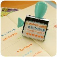 Wholesale Cute cartoon children creative letter hand account roller seal Teacher Award comments small seal students stationery
