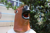 latex cartoon - Creepy Horse Mask Head Halloween Costume Theater Prop Novelty Latex Rubber Party Masks party animal cartoon mask hot