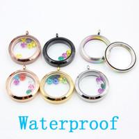Wholesale Panpan Waterproof mm L stainless steel twist lockets screw floating locket without crystals