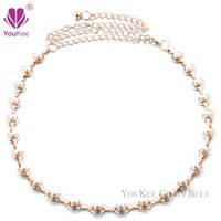 belly chain jewellery - Pearl Belts For Dress Women Lady Sexy Belly Chain Belt Waist Jewellery Body Chain Belts Ceinture Femme BL YouKee Belt