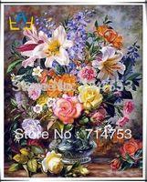 Wholesale Full Drill Diamond Rhinestone Painting Cross Stitch Pasted Painting Fashion Wall Decoration Flower Diy WW010