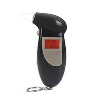 Wholesale Digital LCD Backlit Display the Breathalyzer Audible Alert Breath Alcohol Tester Box Parking Gadget Analyzer black
