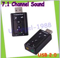 Wholesale 10pcs Hot Sale Mini USB D Virtual Mbps External Channel Audio Sound Card Adapter